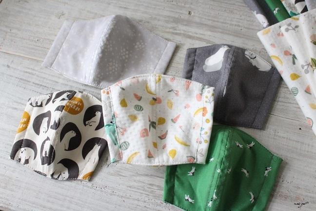 子ども用立体マスクにデコレクションズさんの『竹布抗菌防臭ニット』で試作♪_f0023333_22005643.jpg
