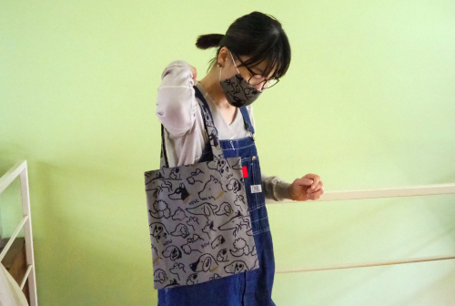 「eco bag & mask set」製作中!_e0243765_11140492.jpg