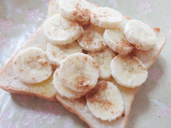 【自作】バナナを使ったオープンサンド_c0152767_15382096.jpg