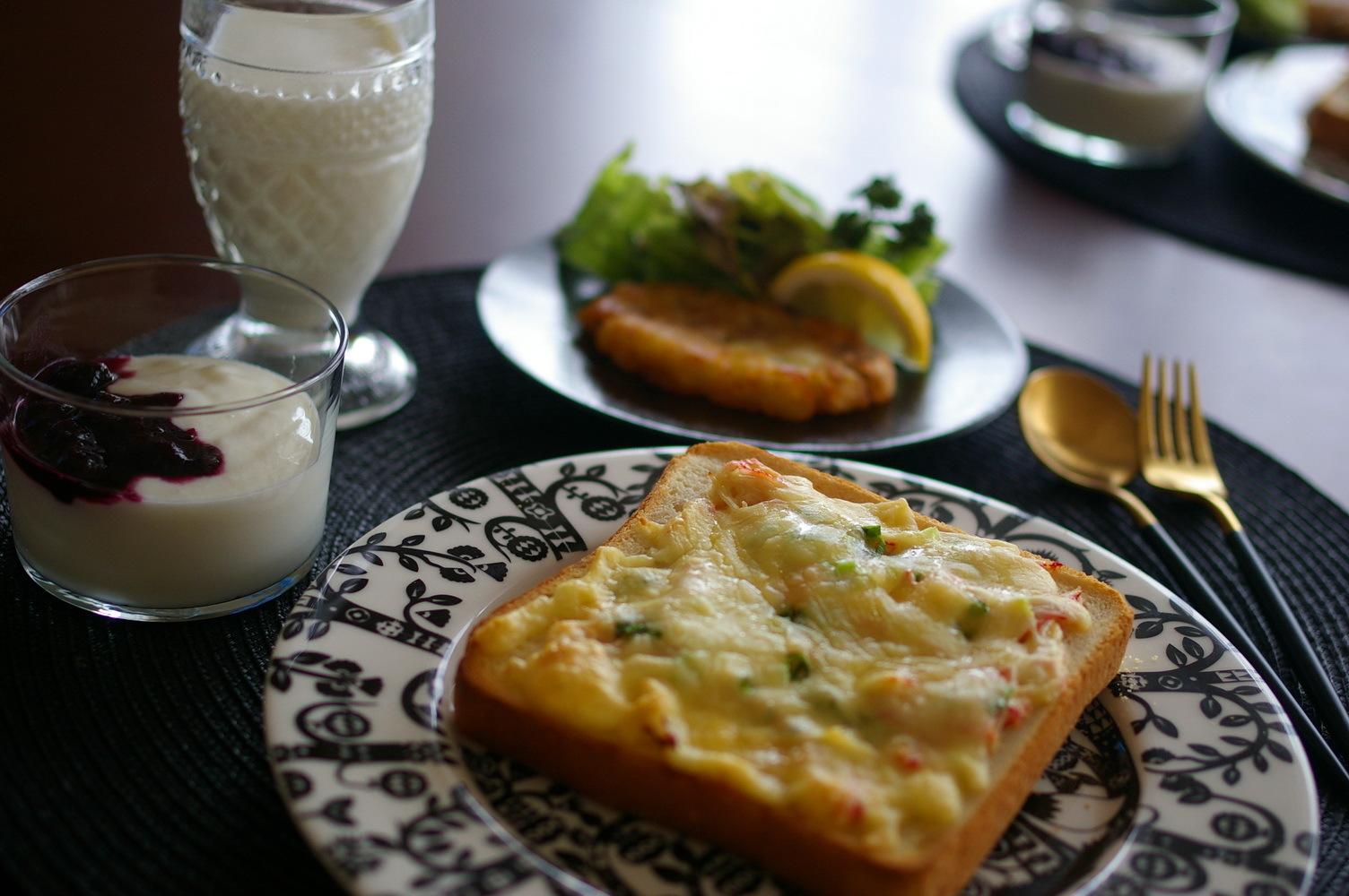 冷凍ピザパンと手作りハッシュドポテト_d0327373_10382671.jpg
