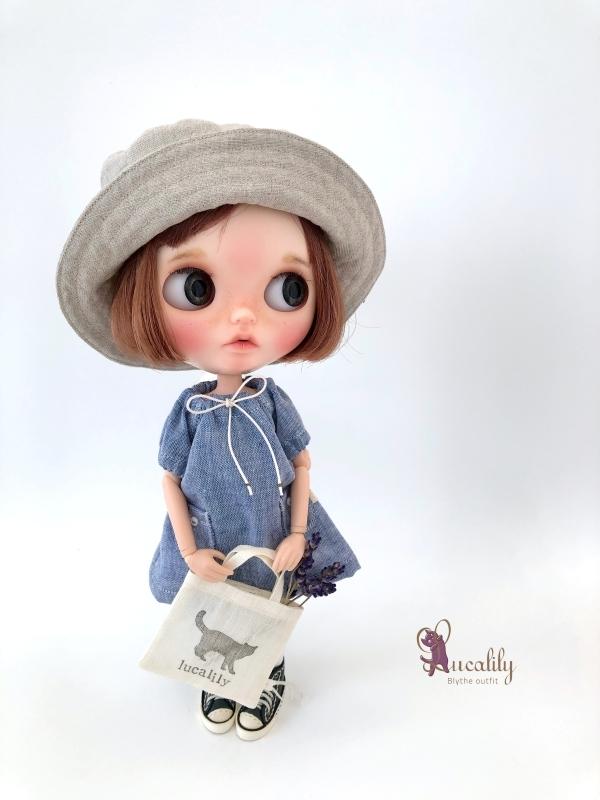 * lucalily * dolls clothes * Patchwork blouson set *_d0217189_20542891.jpg