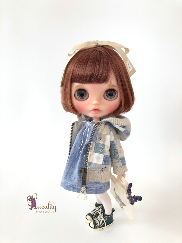 * lucalily * dolls clothes * Patchwork blouson set *_d0217189_20543227.jpg
