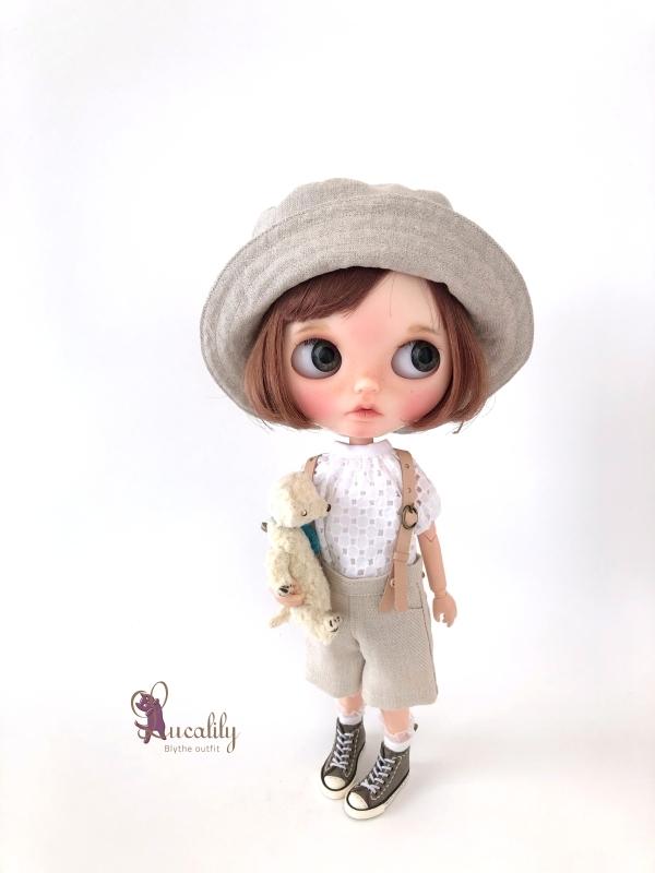 * lucalily * dolls clothes * Patchwork blouson set *_d0217189_20543638.jpg
