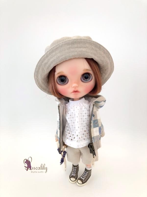* lucalily * dolls clothes * Patchwork blouson set *_d0217189_20544033.jpg