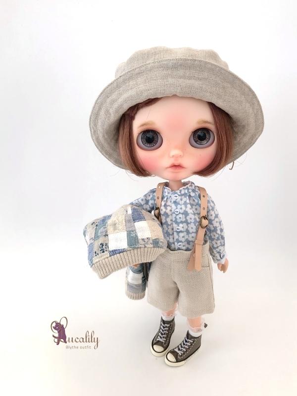 * lucalily * dolls clothes * Patchwork blouson set *_d0217189_20544535.jpg
