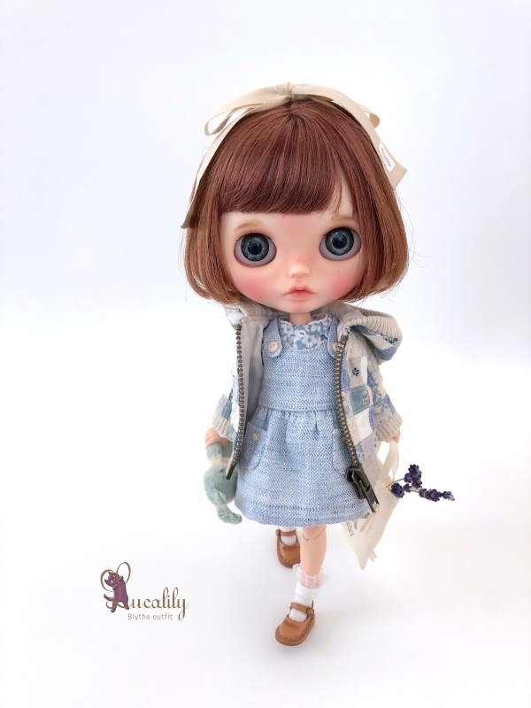 * lucalily * dolls clothes * Patchwork blouson set *_d0217189_20545085.jpg