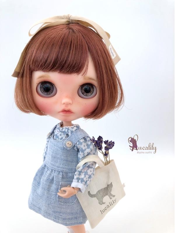 * lucalily * dolls clothes * Patchwork blouson set *_d0217189_20545578.jpg