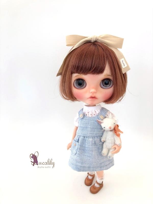 * lucalily * dolls clothes * Patchwork blouson set *_d0217189_20550081.jpg