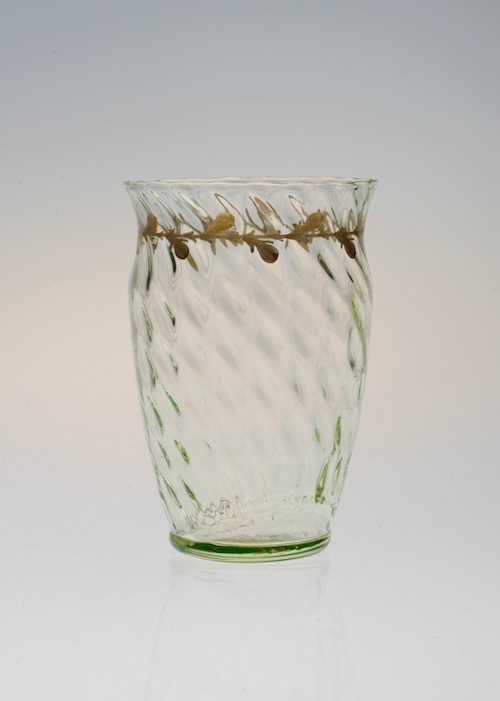 Emile Galle Gold Paint Glass Green No:2_c0108595_23015033.jpeg