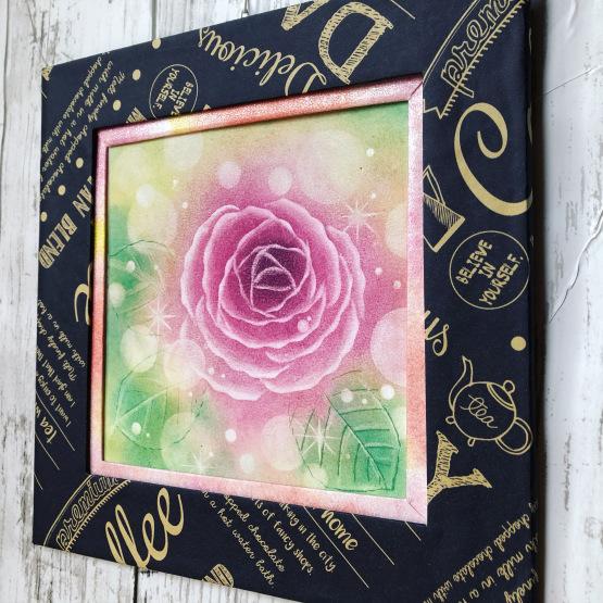サラサフレーム爽で薔薇のパステルアートを額装しました_d0377316_10452794.jpeg