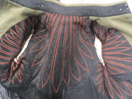 陸軍将校折襟冬用上衣・陸軍昭五式将校用雨外被・綾織生地使用。_a0154482_18494628.jpg