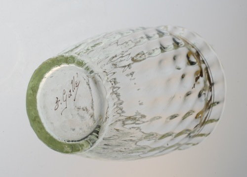 Emile Galle Gold Paint Glass Green No3.4.5_c0108595_23250957.jpeg