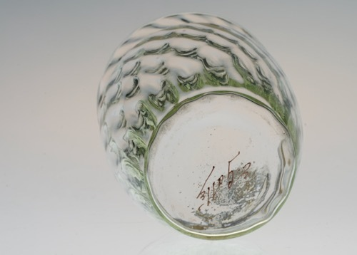 Emile Galle Gold Paint Glass Green No3.4.5_c0108595_23252862.jpeg