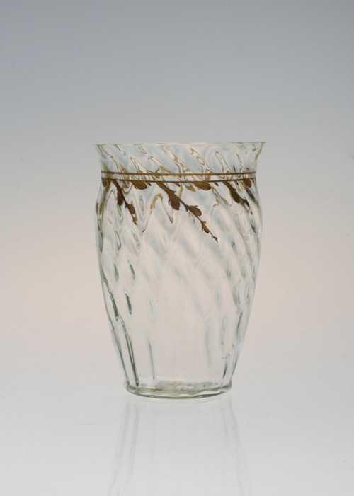Emile Galle Gold Paint Glass Green No3.4.5_c0108595_23375926.jpeg