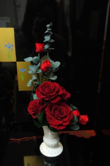 日曜レッスン…基本形をシンプルな花材で・・・_a0123133_22315503.jpg