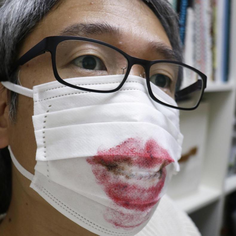 #うちで過ごそう 使い終わったマスクにお絵描き_c0060143_15032704.jpg