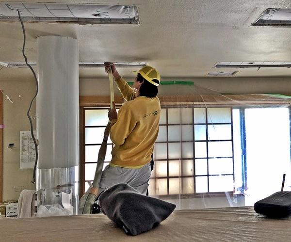 事務所改装工事 セルロース吹き込み_c0019551_17004847.jpg