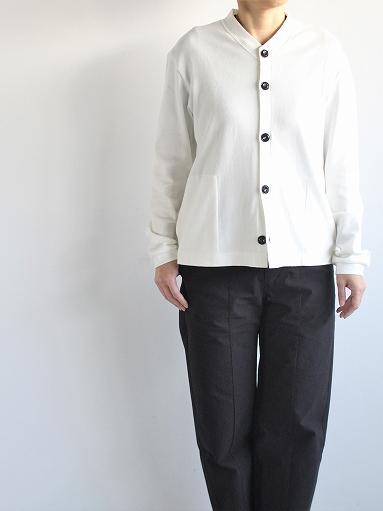 THE HINOKI Organic Cotton V-Neck Cardigan / White (LADIES SELECT)_b0139281_12385677.jpg