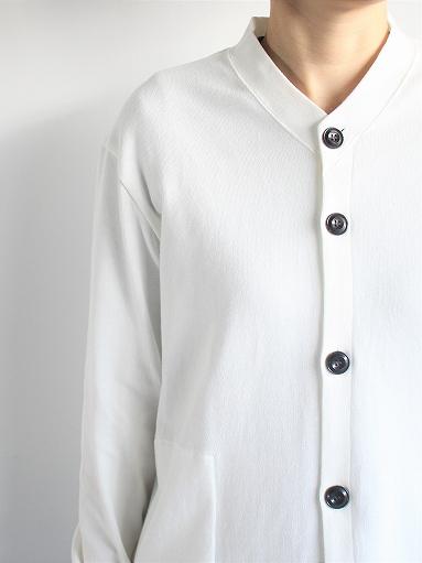 THE HINOKI Organic Cotton V-Neck Cardigan / White (LADIES SELECT)_b0139281_12391878.jpg