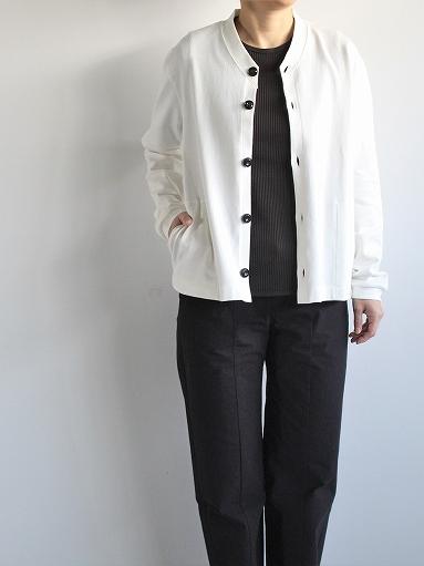 THE HINOKI Organic Cotton V-Neck Cardigan / White (LADIES SELECT)_b0139281_12394571.jpg