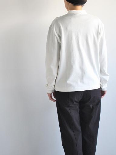 THE HINOKI Organic Cotton V-Neck Cardigan / White (LADIES SELECT)_b0139281_12555468.jpg