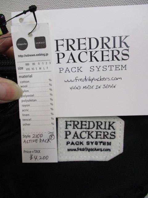 フレドリックパッカーズ フレドリックパッカーズ FREDRIK PACKERS / ACTIVE PACK_e0076692_17233564.jpg