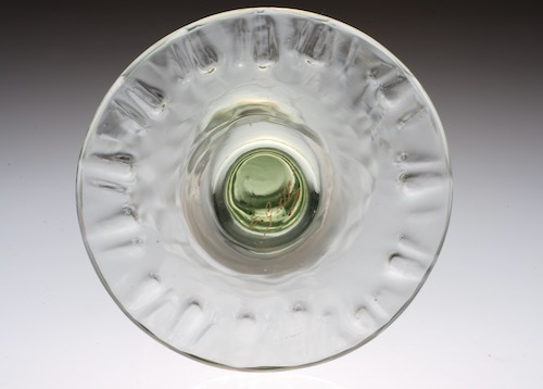 Emile Galle Gold Paint Green Wine Glass _c0108595_22571175.jpeg