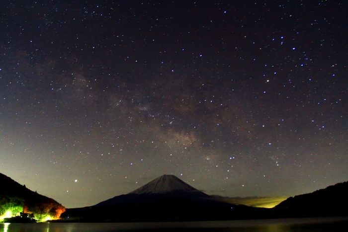 令和2年3月の富士 (27) 精進湖の天の川と富士_e0344396_00041494.jpg