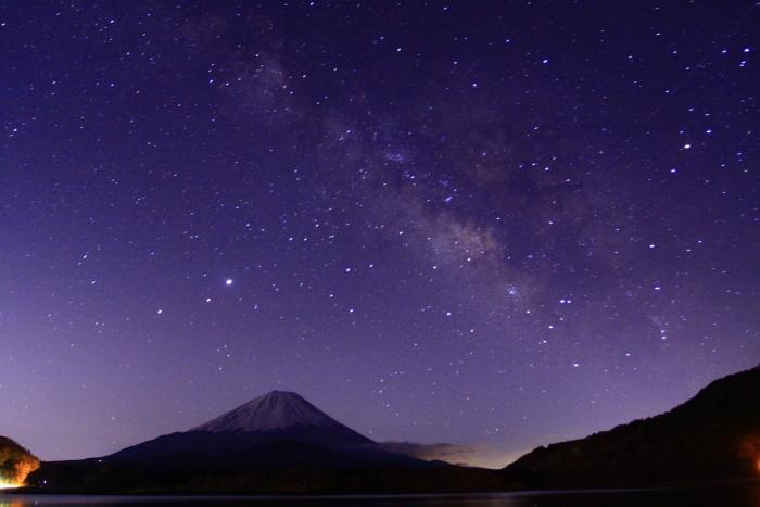 令和2年3月の富士 (27) 精進湖の天の川と富士_e0344396_00041495.jpg