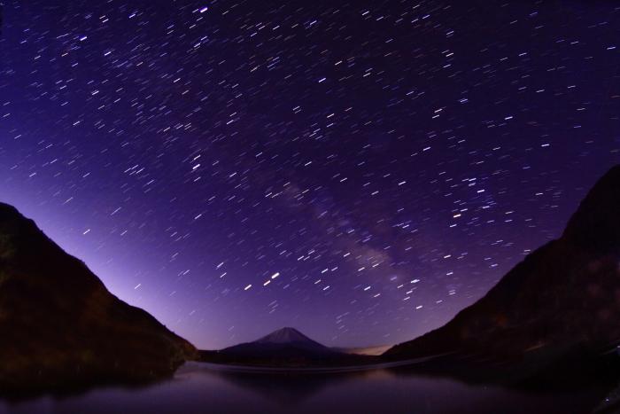 令和2年3月の富士 (27) 精進湖の天の川と富士_e0344396_00041506.jpg