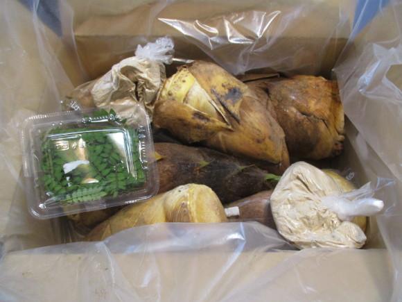 小豆と筍_a0279743_09590511.jpg