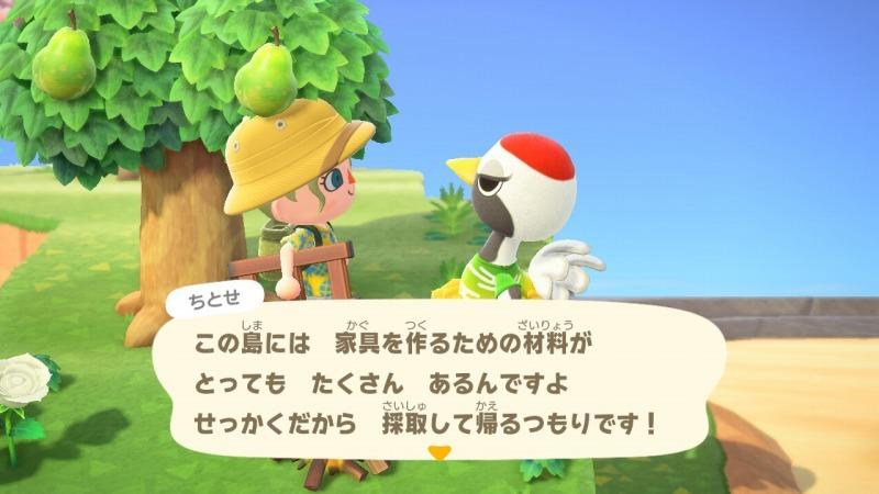 ゲーム「あつまれどうぶつの森 ちとせキタァァァァ!!!!!」_b0362459_23155449.jpg