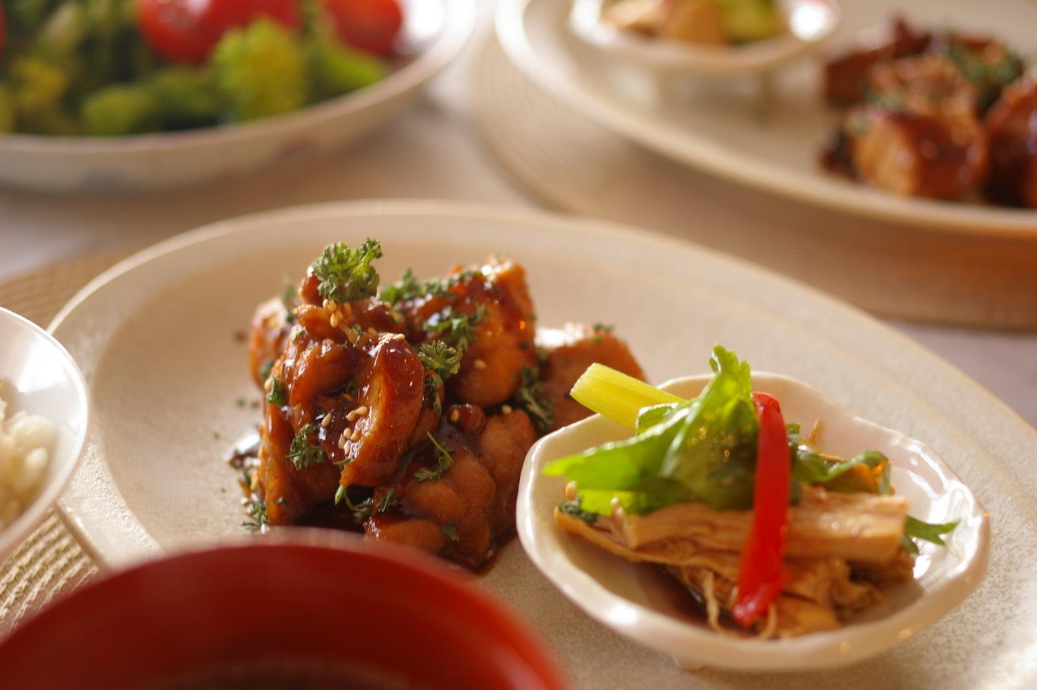生姜ご飯と蒸し鶏のセロリ和え_d0327373_18334225.jpg