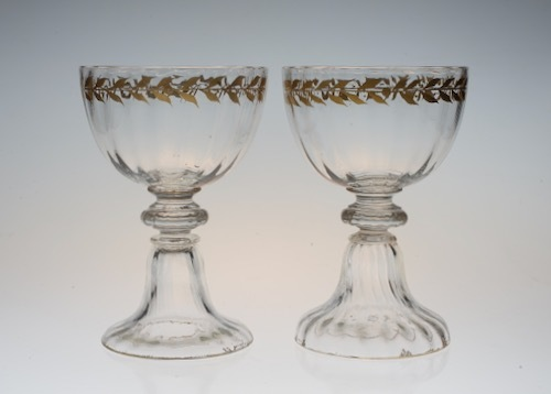 Emile Galle Gold Paint Wine Glass A_c0108595_23365632.jpeg