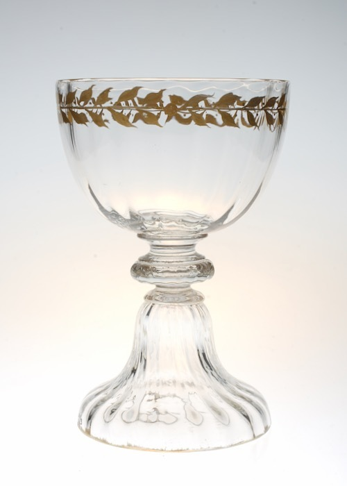Emile Galle Gold Paint Wine Glass A_c0108595_23395691.jpeg