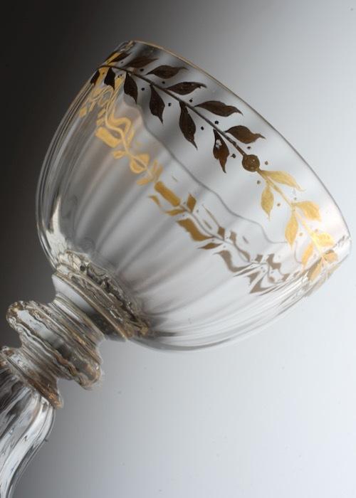 Emile Galle Gold Paint Wine Glass A_c0108595_23411711.jpeg