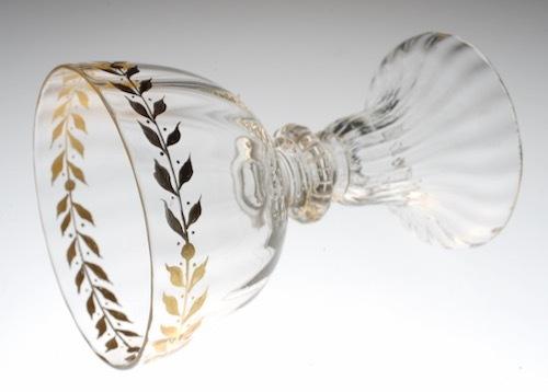 Emile Galle Gold Paint Wine Glass A_c0108595_23465036.jpeg