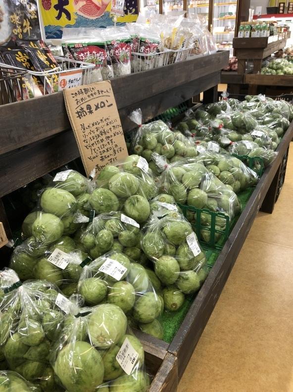 大洗まいわい市場 今の時期しか食べれない摘果メロン入荷中_a0283448_12025755.jpg