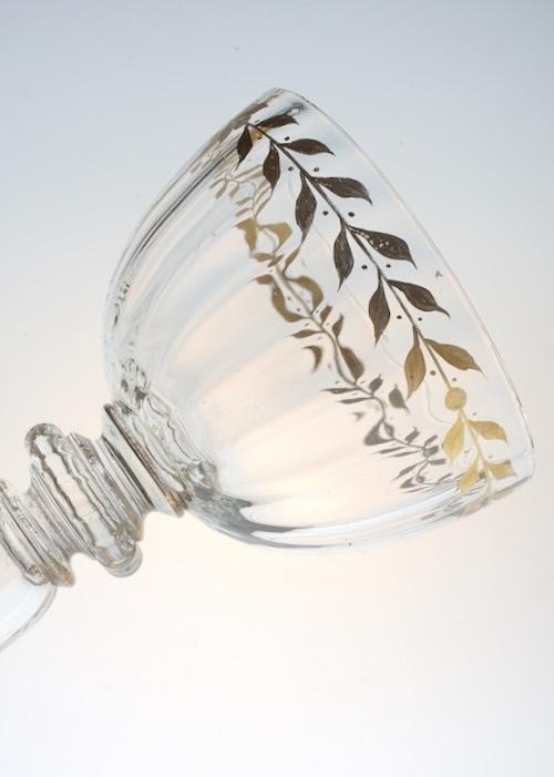Emile Galle Gold Paint Wine Glass B_c0108595_23460065.jpeg