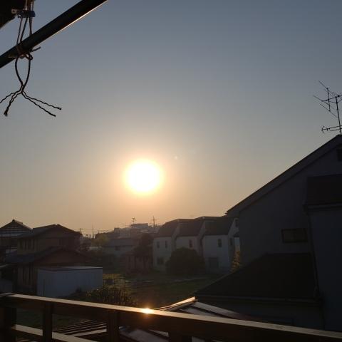 春の月と太陽_a0101801_06354213.jpg
