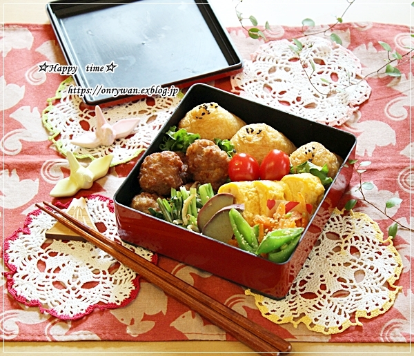 三角お稲荷さん弁当とおうち時間を楽しむ☆簡単ココアババロア♪_f0348032_16364161.jpg