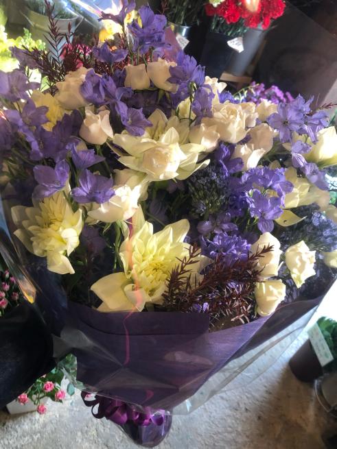 古希祝いの花束ですお父様へ♡_b0368251_19442650.jpg