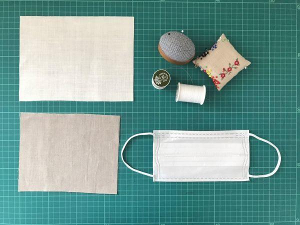 手縫いが好きな方へのリネンマスクの作り方 道探しの愉しいクロスステッチ付き♡_e0116763_18473549.jpg