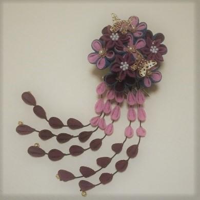 ななっちさんの「二重の花かんざし」と「ラナンキュラスのコサージュ」_c0122475_10482006.jpg