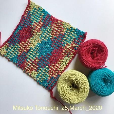 試し編み②     tried knitting_②_b0029036_16351399.jpg