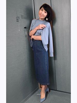 GUで作るブルーワントーンコーデ♡ エレガント、上品さを求める女性達へ_f0249610_16235229.jpeg