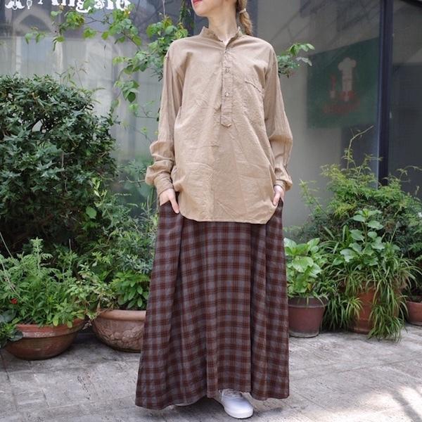 プルオーバーバンドカラーシャツ COMOLI_d0364239_19111552.jpg
