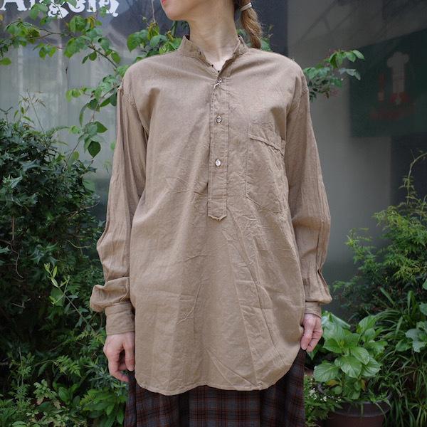 プルオーバーバンドカラーシャツ COMOLI_d0364239_19114038.jpg