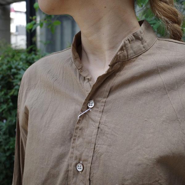 プルオーバーバンドカラーシャツ COMOLI_d0364239_19120158.jpg