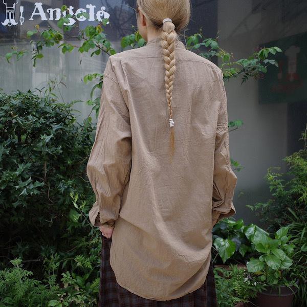 プルオーバーバンドカラーシャツ COMOLI_d0364239_19125623.jpg